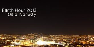 Earth hour 2013, Oslo, Norway
