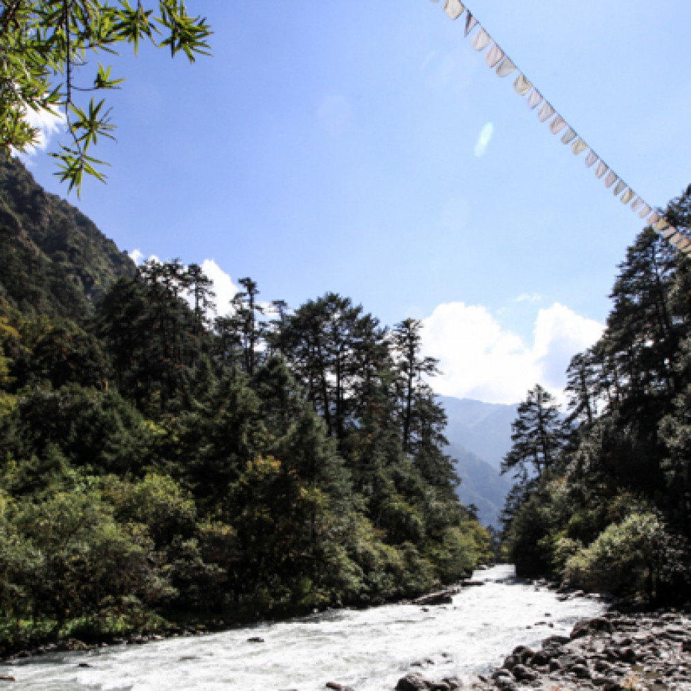Nepal, mountain, trekking, riverside